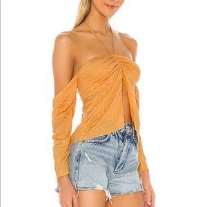 Lovers + Friends Eden Top in Tangerine Orange